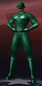 Image of The Green Lancer, Cameron's City of Heroes character.