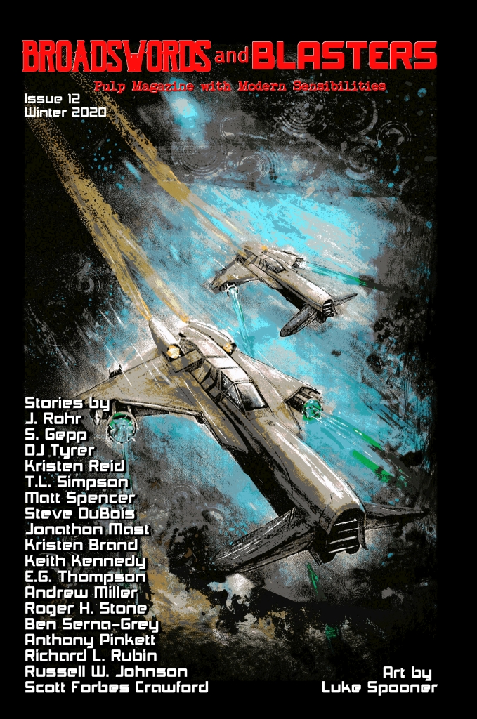 Cover of Issue 12, shows two starfighters roaring in from the top left.